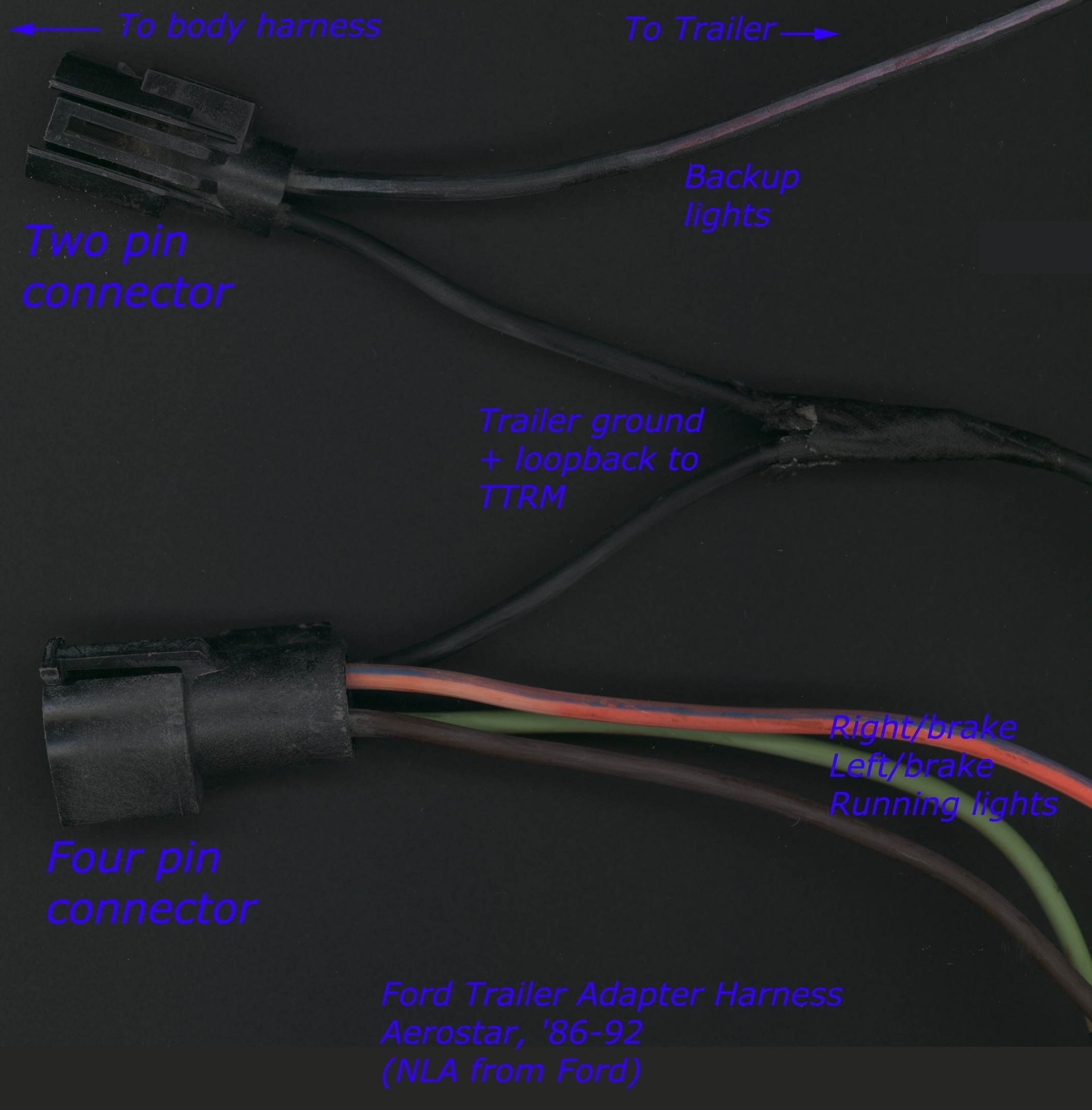 Remarkable Ford Trailer Harness Adapter Wiring Diagram Wiring Digital Resources Operpmognl