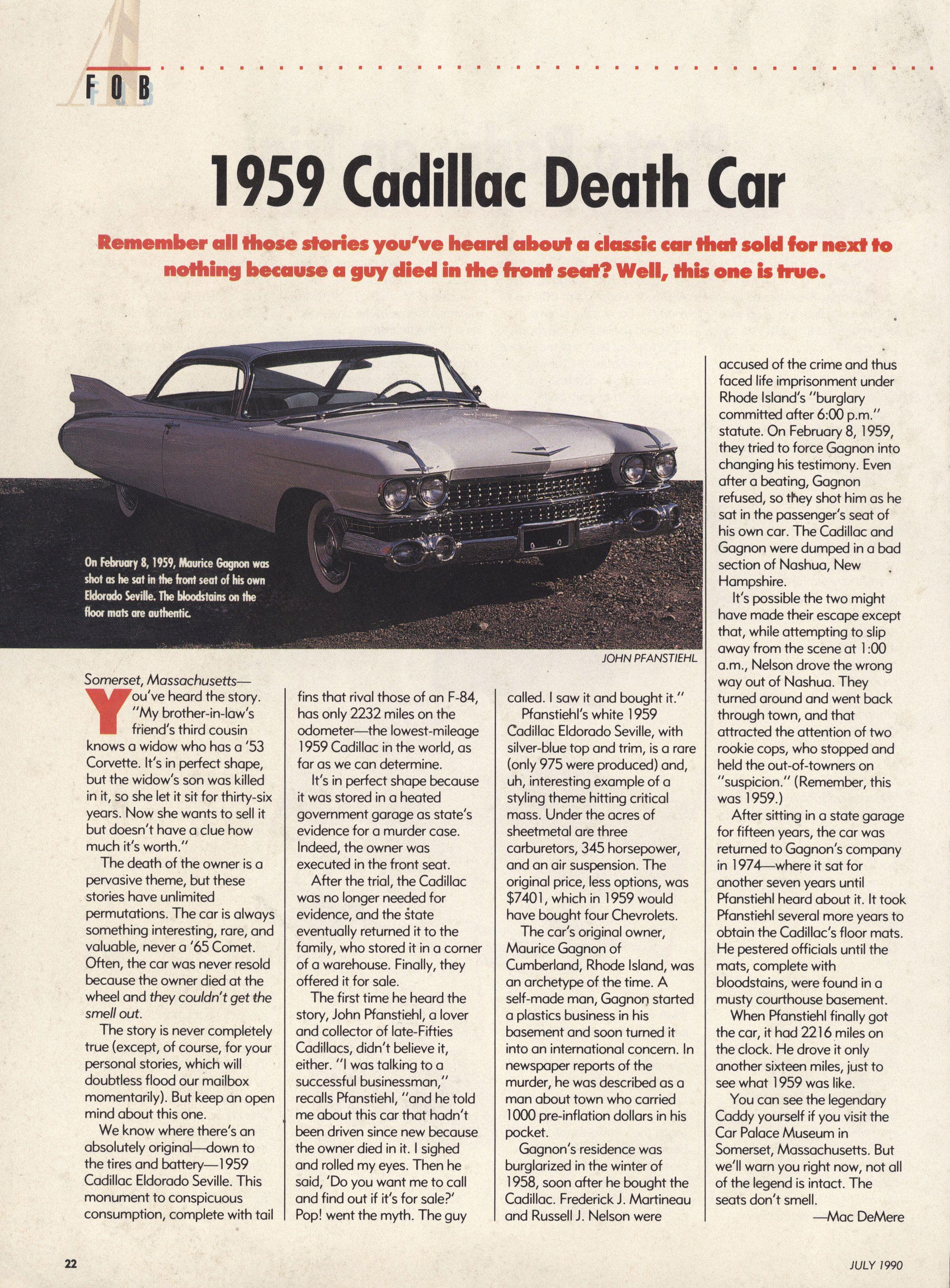 1959 Cadillac Death Car