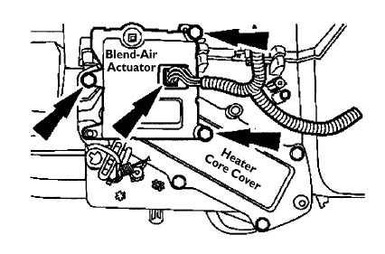 Blend_Actuator_drawing_b clicking in dash taurus car club of america ford taurus forum 2000 ford taurus engine wiring harness at gsmportal.co