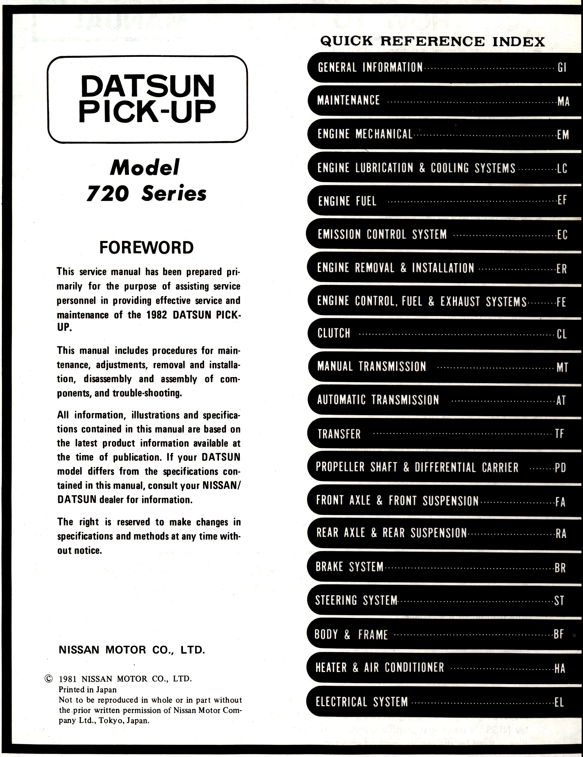 datsun owners manual pdf