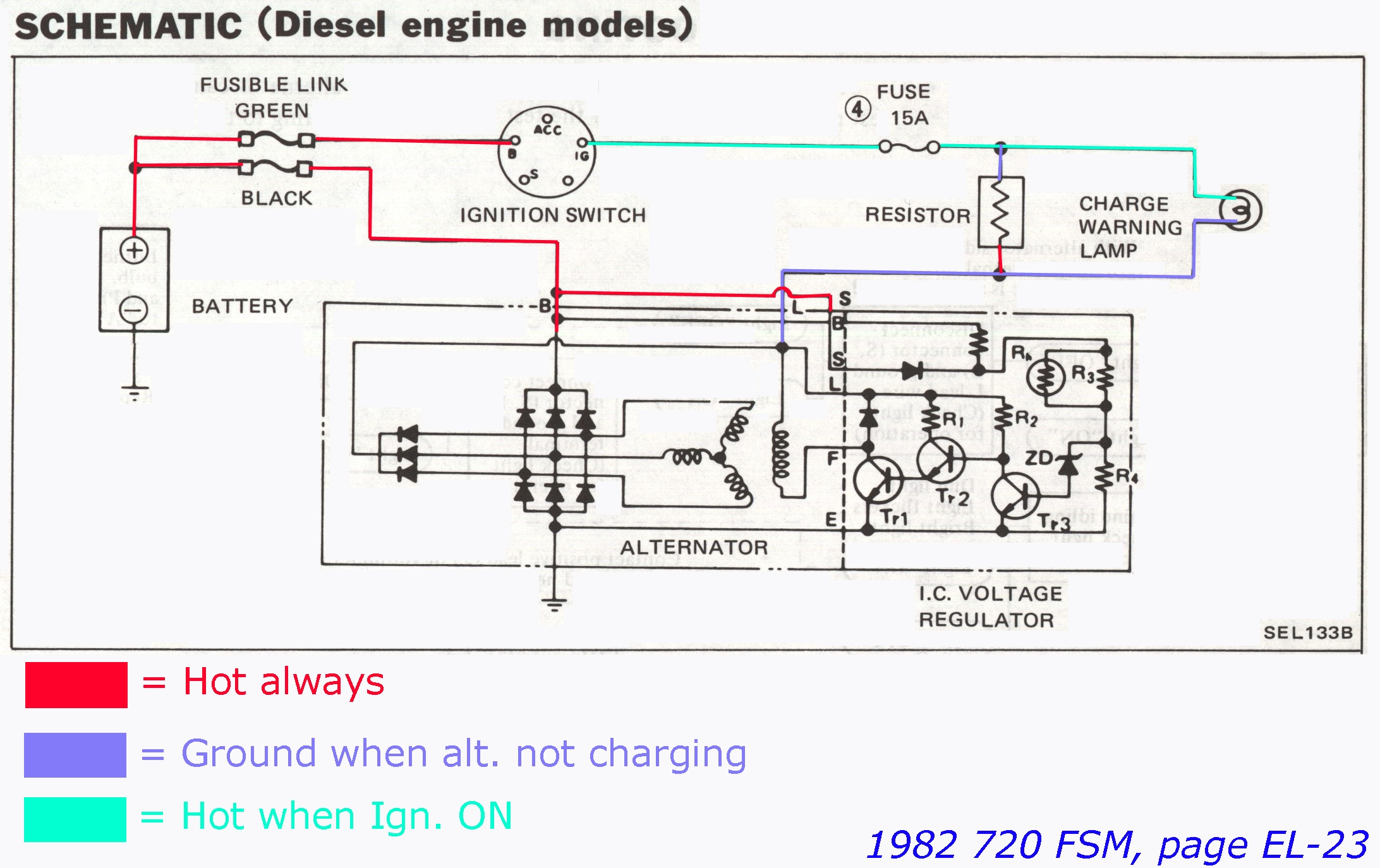 FSM_1982_EL 023 1 1b nissandiesel forums \u2022 view topic hitachi lr150 50a alternator Ford Alternator Wiring Diagram at webbmarketing.co