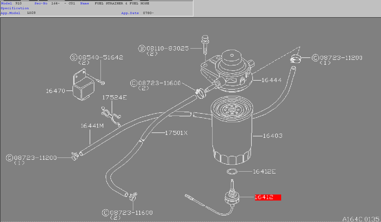 Nissandiesel Forums View Topic Ld28 Maxima Fuel Filter Engine Cooling System Diagram On 93 Nissan Truck Fast Actually Lists Three Water In Wif Sensor Probes