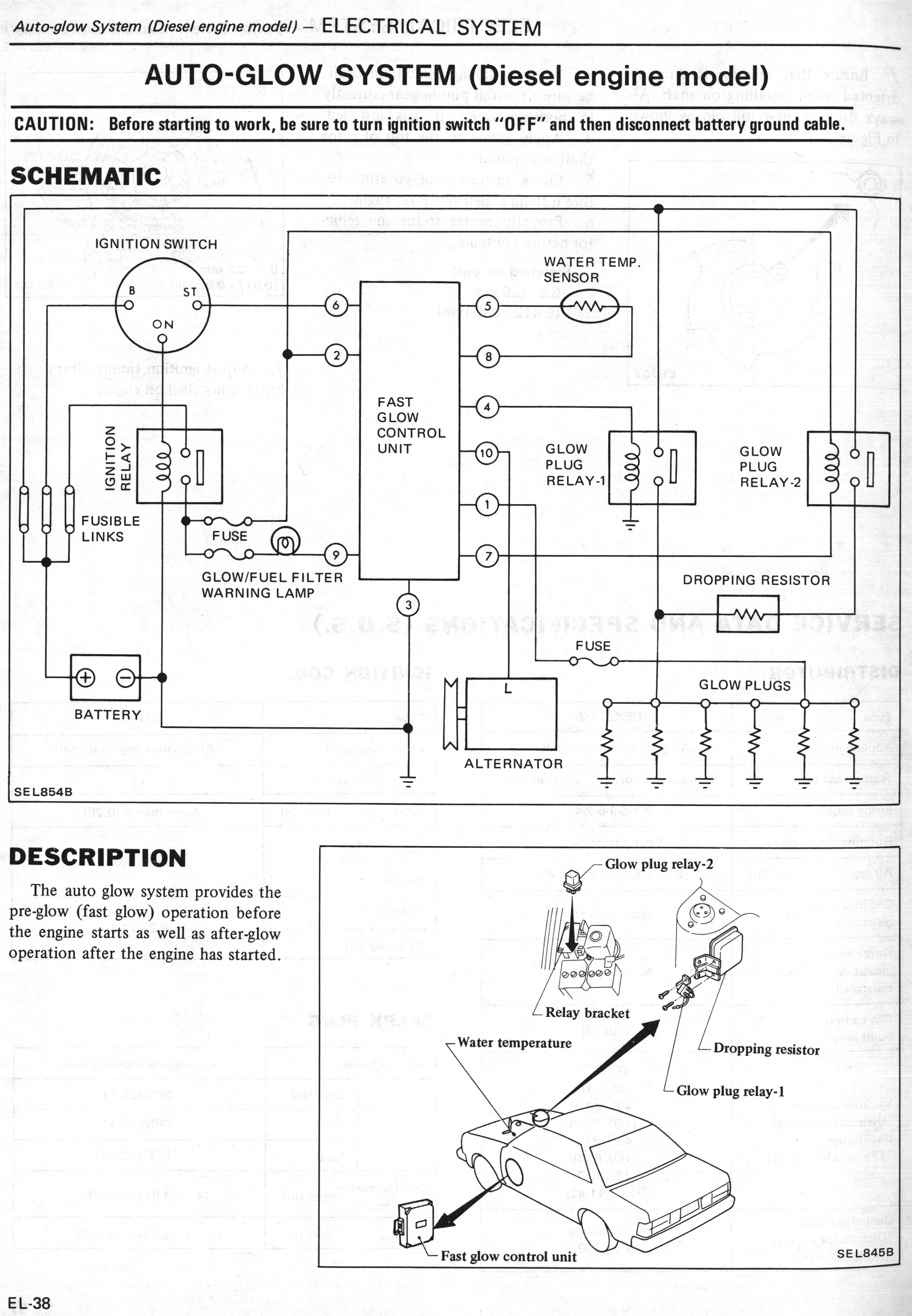 NissanDiesel forums View topic Glow plug circuit components – Diesel Glow Plug Wiring Diagram