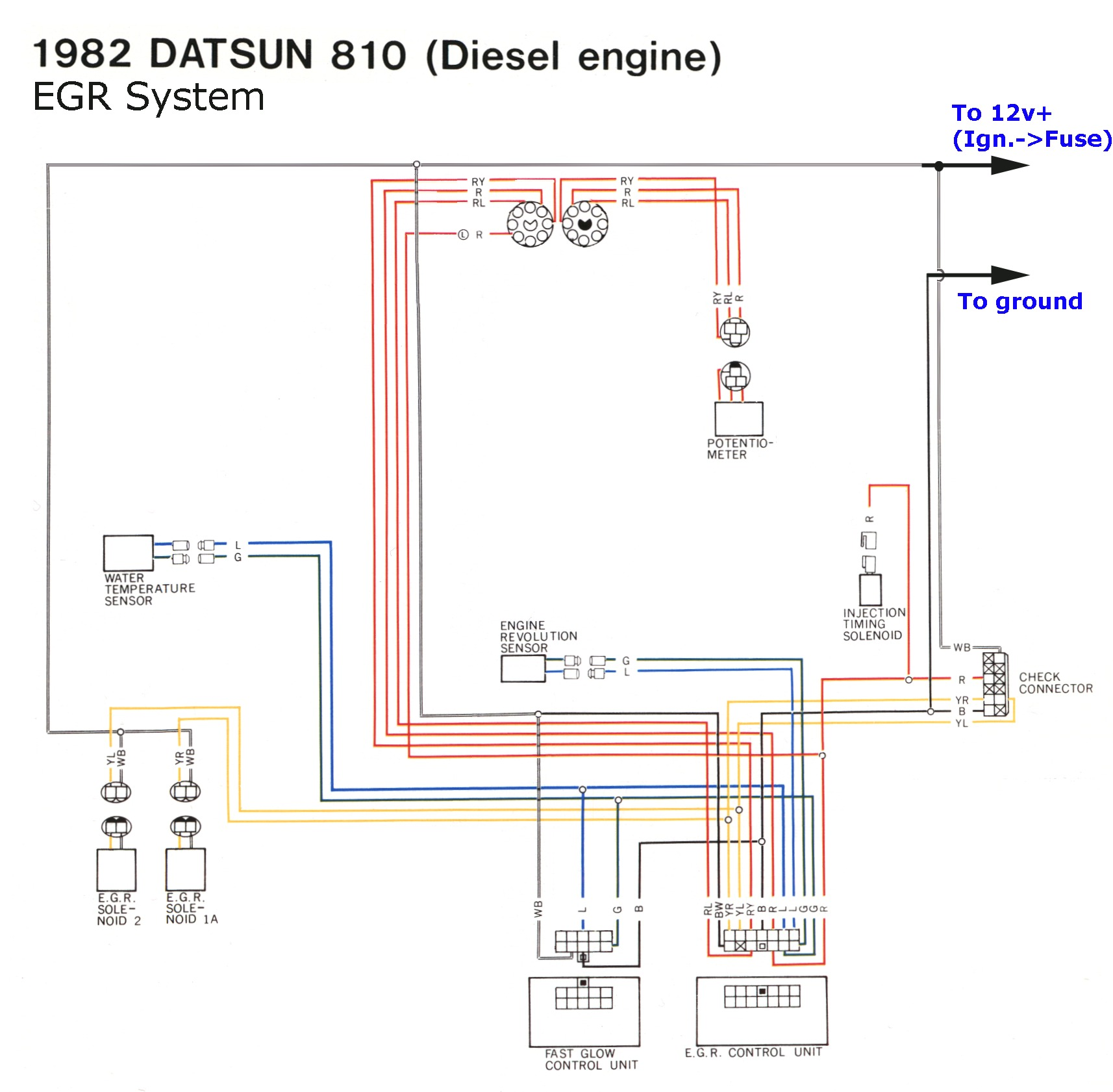 Sun Super Tach Wiring Diagram Tachometer on w123 glow plug wiring diagram for