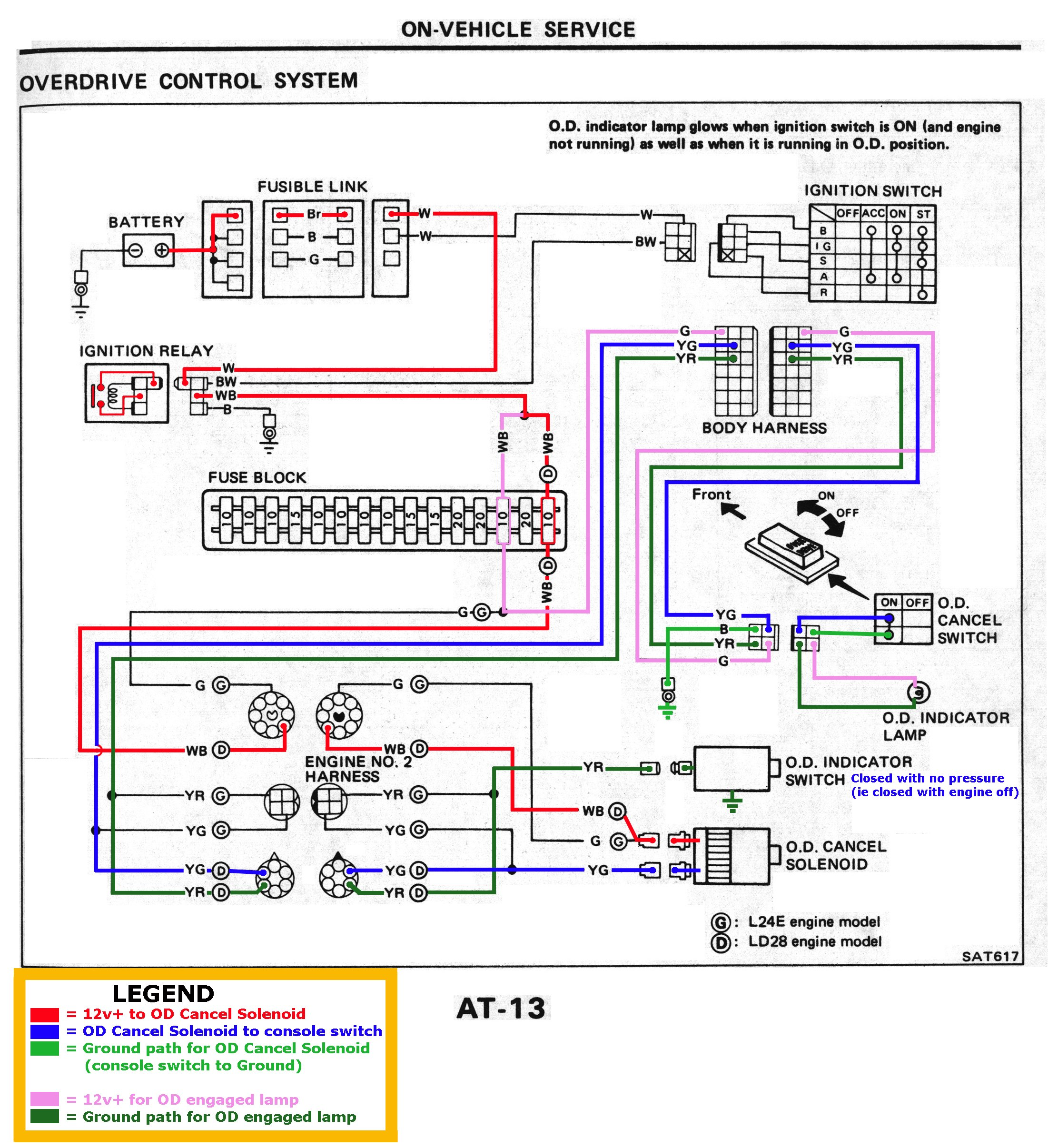 FSM_1983_AT 013 1b datsun 720 wiring diagram toyota corolla wiring diagram wiring Ford Alternator Wiring Diagram at webbmarketing.co