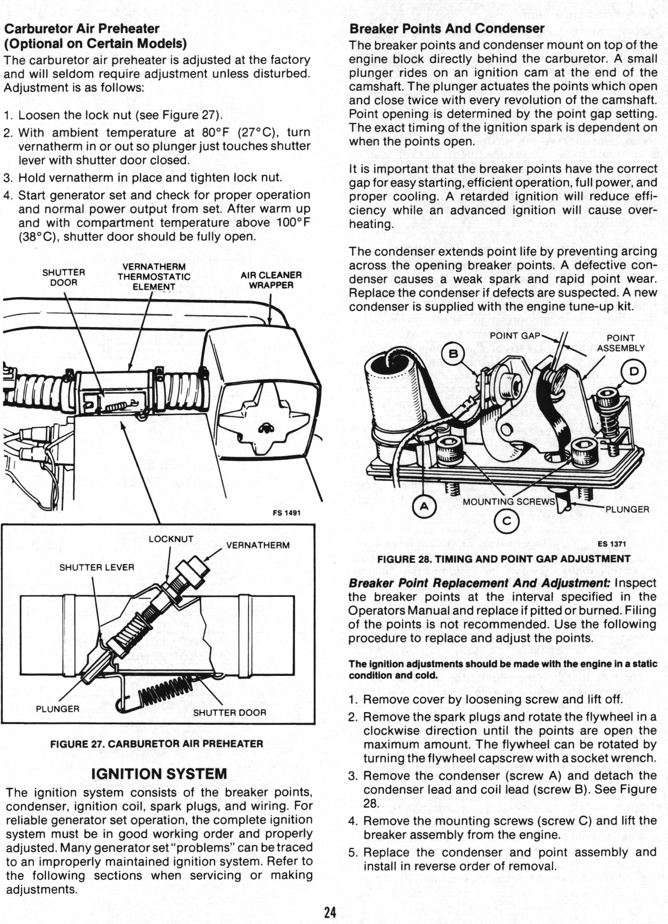 Onan Service Manual for BF/BFA/BGA/NH: 900-0337: Page 24