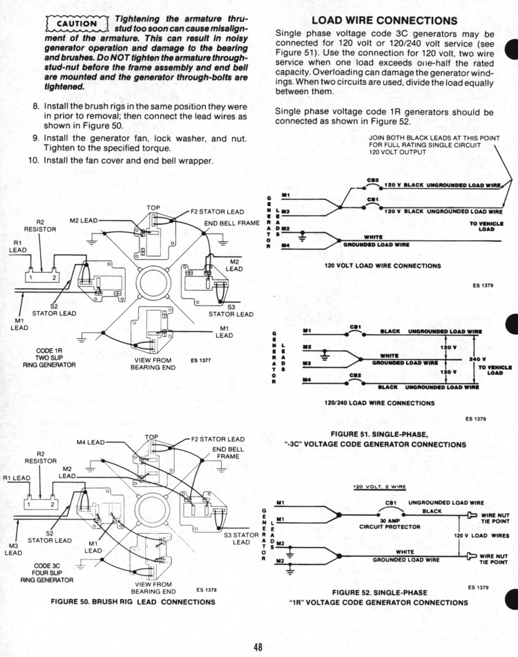 048a onan service manual for bf bfa bga nh 900 0337 page 48 AC Generator Diagram at alyssarenee.co