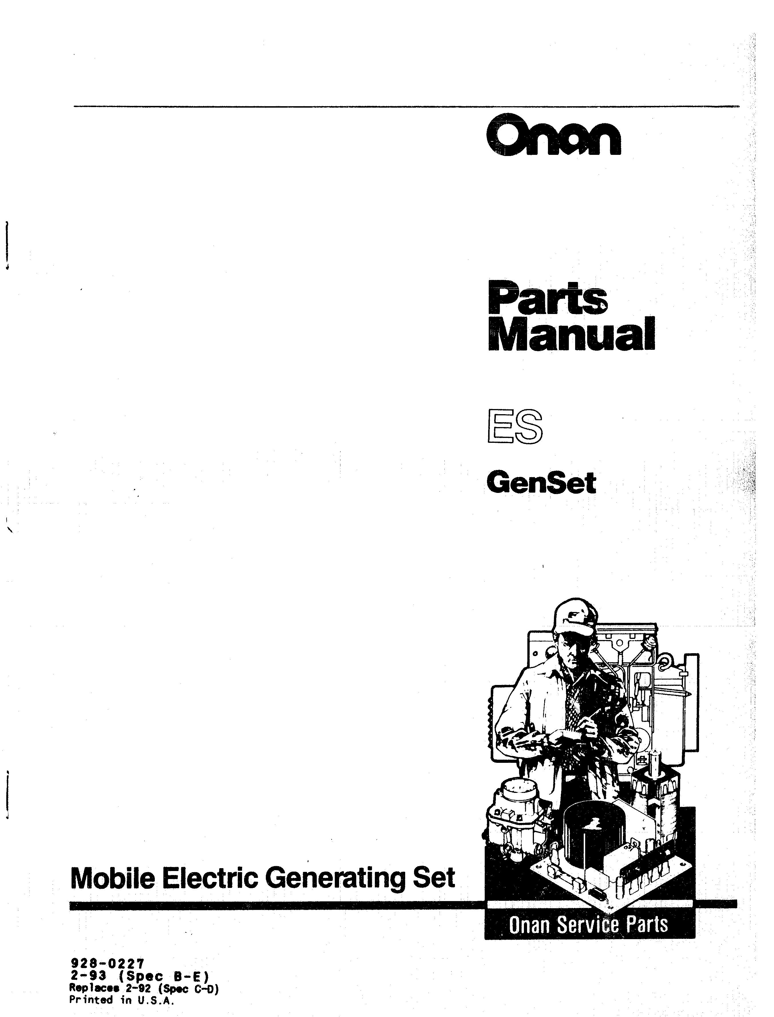 Onan Parts Manual - Owner Manual & Wiring Diagram