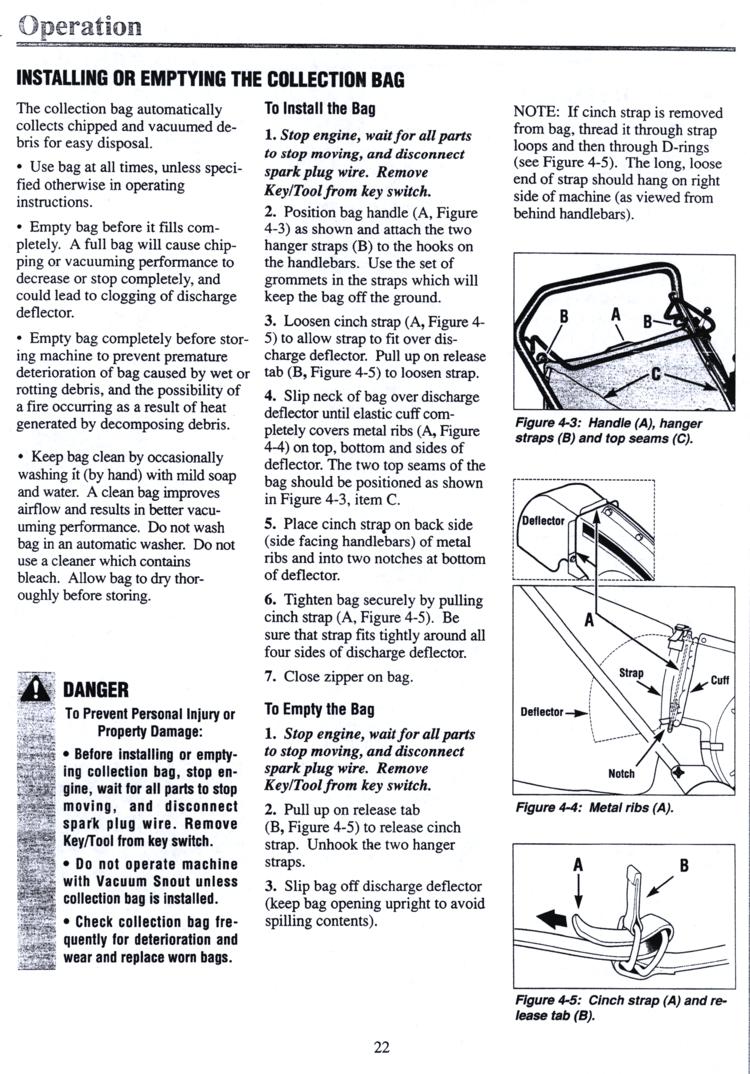 troy bilt chipper vac 47282 manual