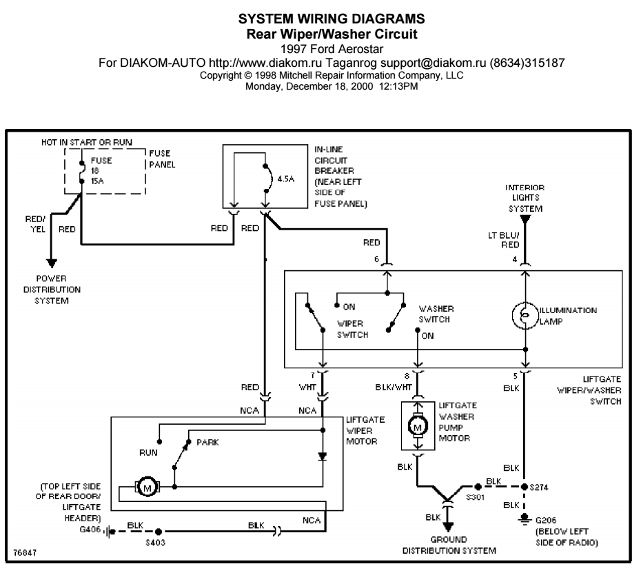 rear wiper switch ('92 on) make it a momentary ford truck Wiper Switch Wiring Diagram 1998 reference circuit diagram, courtesy of mitchell wiper switch wiring diagram 1967 mgb
