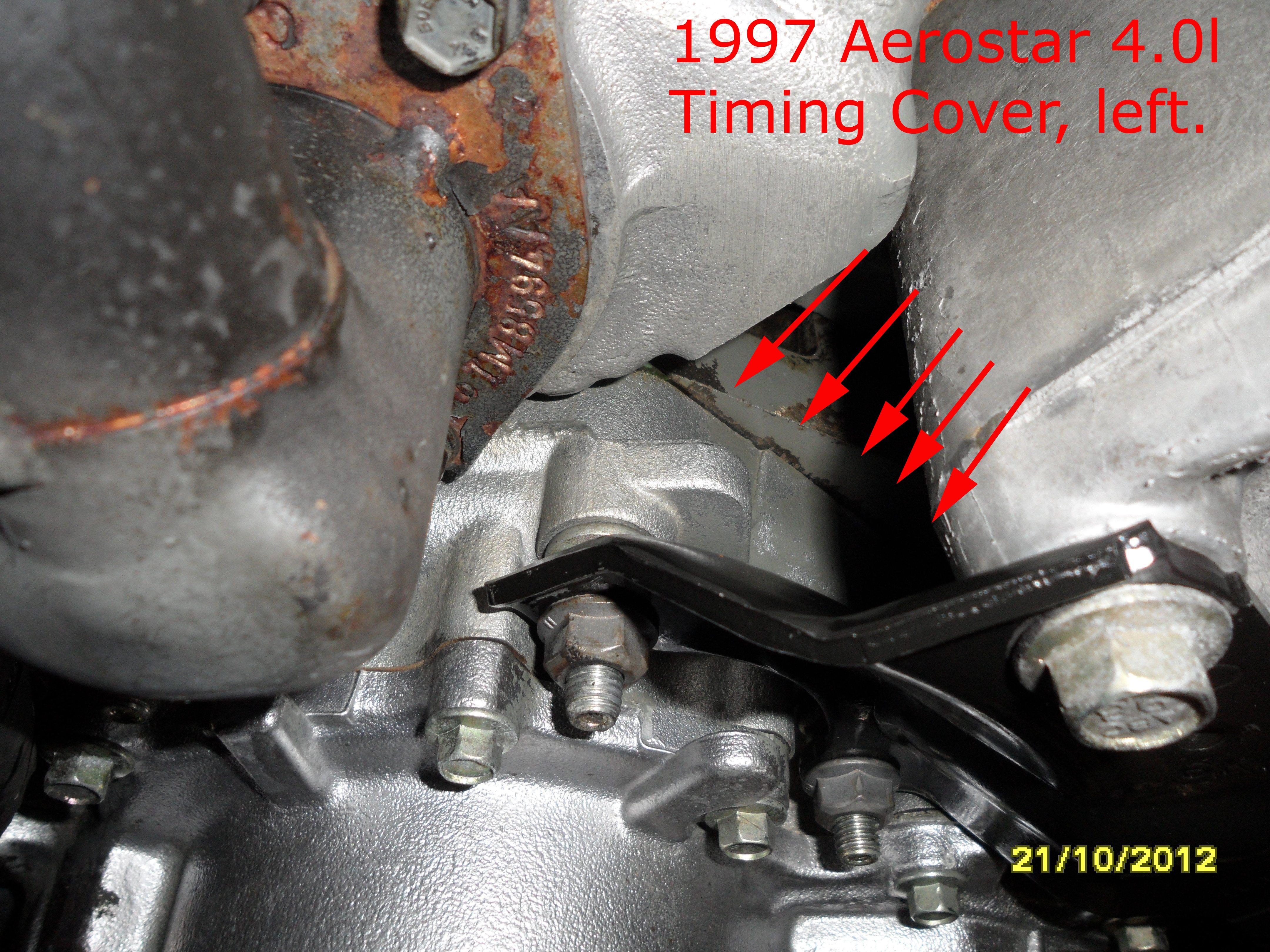 Timing cover oil leak got lucky