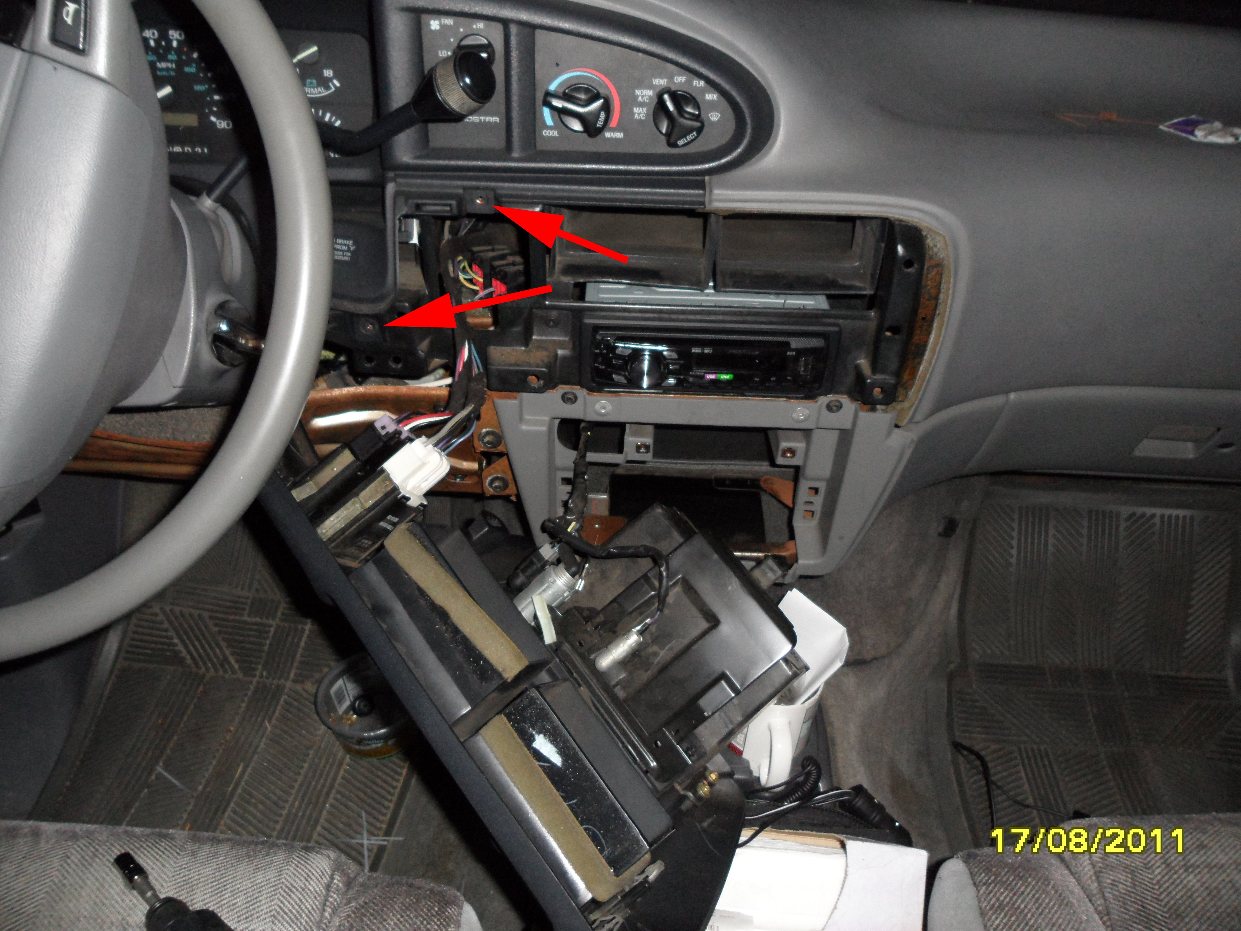 Headlight Switch Connector Replacement 92 On Ford Truck Medium Duty Wiring Diagrams Leave All The Cigar Lighter Rear Wiper Defrost Connected You Dont Need To Move Radio Surround Too Far