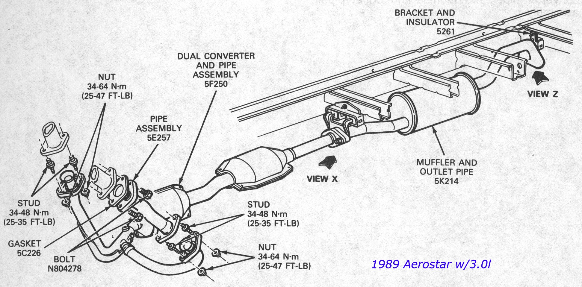 1996 Ford F150 Exhaust Diagram Wiring Diagrams Scematic For 1995 2005 Third Level F 150 Front Suspension